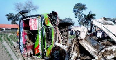 جہانیاں میں کار اور مسافر بس میں تصادم،ایک شخص جاں بحق