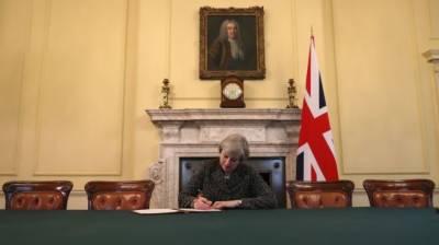 برطانوی وزیراعظم نے بریگزٹ کا عمل شروع کرنے کیلئے خط پر دستخط کر دیئے