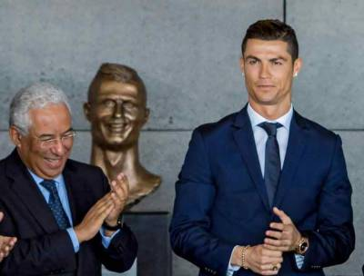 رونالڈو کے مجسمے کی پردہ کشائی، شائقین فٹبال نے مشابہت پر سوال اٹھا دیئے