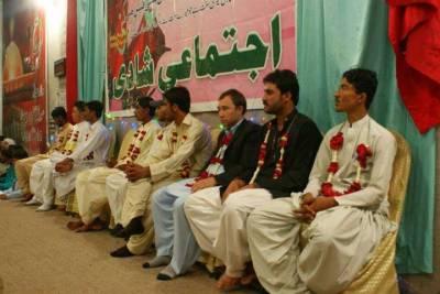 کراچی میں اجتماعی شادی کی تقریب،مستحق پاکستانی جوڑے رشتہءازدواج میں منسلک