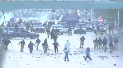 جماعت اسلامی کے کارکنوں کا پولیس کے درمیان تصادم، حافظ نعیم سمیت متعدد کارکنان گرفتار
