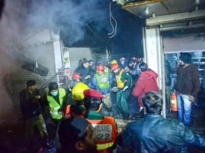 لاہور:انار کلی بازار میں آگ بھڑک اُٹھی