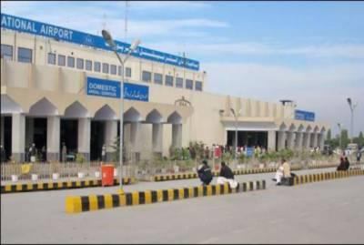 پشاورمیں گلف ایئر لائن کا طیارہ حادثے سے بال بال بچ گیا