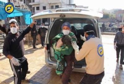شام میں مہلک کیمیائی گیس کا حملہ، 58 افراد ہلاک
