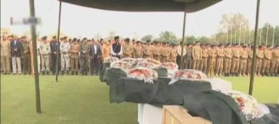 بیدیاں روڈ دھماکے کے شہدا کی نمازہ جنازہ ادا کر دی گئی