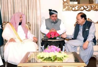 صدر اور وزیراعظم سے امام کعبہ کی ملاقات، باہمی دلچسپی کے امور پر تبادلہ خیال