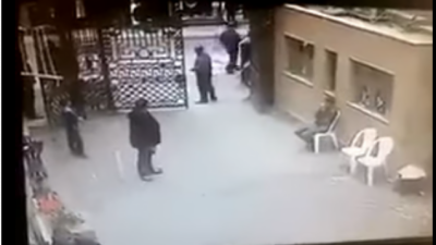 چرچ میں ہونے والے دھماکے کی سی سی ٹی وی فوٹیج سامنے آگئی