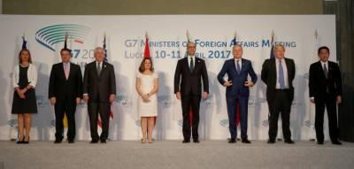 جی سیون گروپ کے وزرائے کا اجلاس، روس پر اقتصادی پابندیاں لگانے پر غور