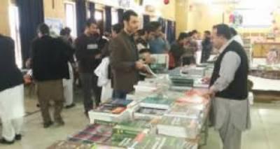پشاور: محکمہ ہائیر ایجوکیشن اور آرکائیوز لائبریز خیبر پختونخوا کے زیر اہتمام تین روزہ کتب میلہ شروع