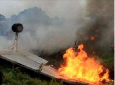 دینہ میں پاک فوج کا تربیتی طیارہ گر کر تباہ ، دونوں پائلٹس محفوظ