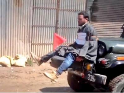 کشمیری نوجوان کو فوجی جیپ کے آگے باندھنے پر بھارتی فوج کو شدید تنقید کا سامنا