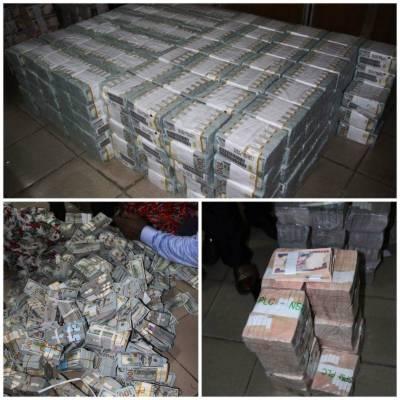 نائیجریا: خالی فلیٹ سے 43 ملین ڈالر سے زائد رقم برآمد