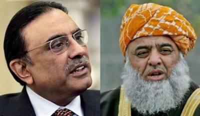 آصف زرداری سے ملاقات طوفان ٹلنے کا پیش خیمہ ہوسکتی ہے،مولانا فضل الرحمان