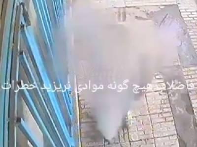 تہران میں سگریٹ پی کر گٹر میں پھینکنے سے دھماکا