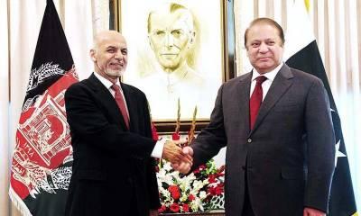 افغان صدر کا وزیر اعظم نواز شریف کو خط، دو طرفہ پارلیمانی رابطوں کی تجویز