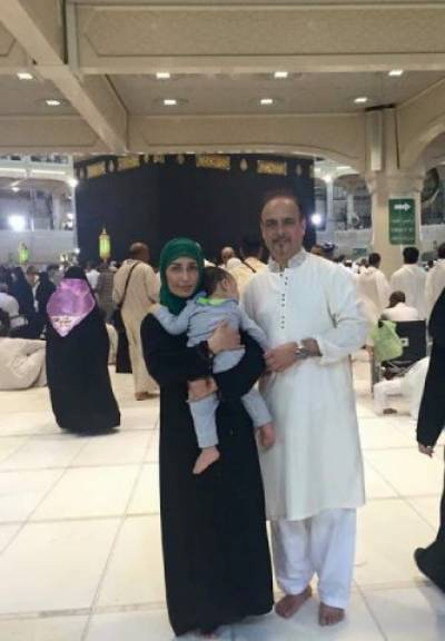 ریما خان کی شوہرکے ہمراہ ادائیگی عمرہ کی تصاویر