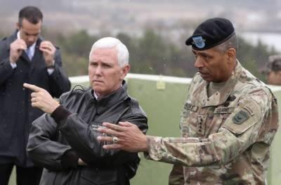 شمالی کوریا کیساتھ فوجی مصلحت سے کام لینے کا دور ختم ہو گیا: مائیک پینس