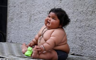 بھارت میں 8 ماہ کی بچی نے موٹاپے کا نیا ریکارڈ بنا لیا