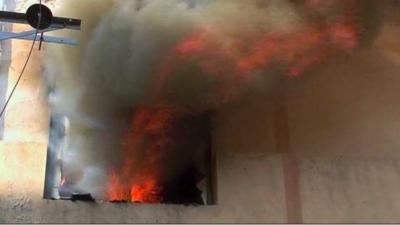 لاہور کی نیو انارکلی میں واقع پلازہ میں آتشزدگی،لاکھوں کا سامان جل گیا