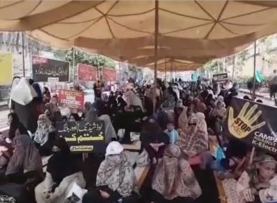 جماعت اسلامی کا کراچی میں دھرنا چوتھے روز میں داخل