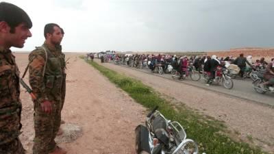 کرد فورسز نے شام کے طبقہ شہر کے 90 فیصد پر قبضہ کر لیا