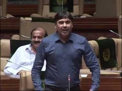 سندھ اسمبلی اجلاس میں اپوزیشن کا احتجاج، امداد پتافی کے وزیراعظم کیخلاف نازیبا الفاظ