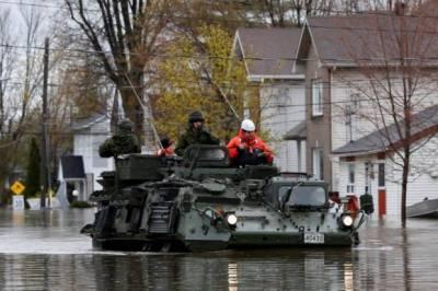 کینیڈا میں فوج ہزاروں افراد کوسیلاب سے بچانے کے لئے متحرک ہو گئی
