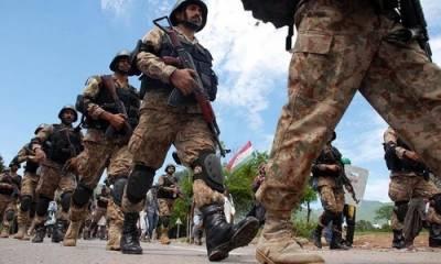 پاک فوج کا دہشت گردوں کے خلاف ملک گیر آپریشن ردالفساد جاری