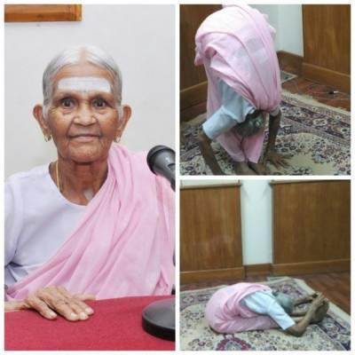 بھارت کی 98 سالہ ضعیف خاتون کو دنیا کی دوسری اور بھارت کی پہلی بزرگ ترین یوگا انسٹرکٹر کا اعزاز حاصل ہے