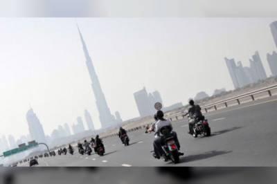 دبئی میں موٹر سائیکل سواروں پر بڑی پابندی عائد کر دی