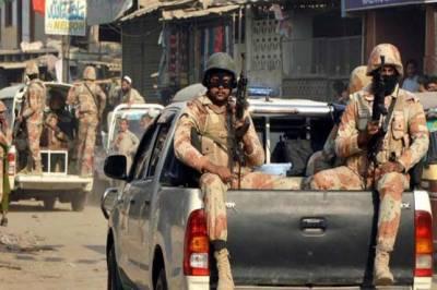 کراچی: رینجرز کی مختلف علاقوں میں کارروائی، 10 ملزمان گرفتار