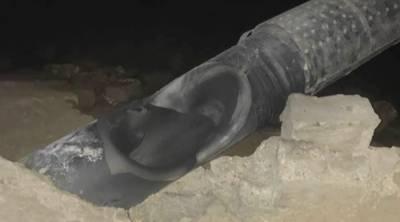 کراچی : منگھو پیر کے علاقے میں گیس پائپ لائن دھماکہ،600گرام دھماکہ خیز مواد کا استعمال