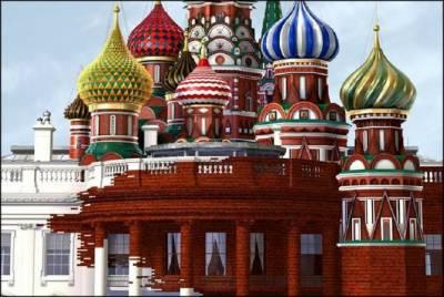 ٹائم میگزین کےسرورق پر روسی عمارت کی وائٹ ہاﺅس پر برتری کی تصاویر نے ہنگامہ کھڑا کر دیا