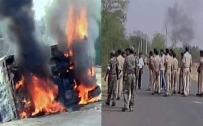 بھارت میں مشتعل ہجوم نے6 افراد کو ہلاک کر دیا'ہجوم کا پولیس پر پتھراﺅ