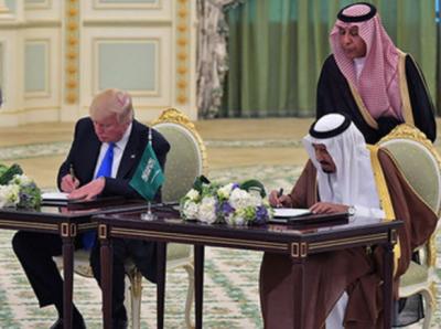 سعودی عرب اور امریکا کے درمیان 380ارب ڈالرز سے زائد کے معاہدے