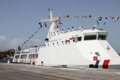 میری ٹائم سیکیورٹی کے لیے چین میں تیار کردہ تیسرا جہاز پاک بحریہ میں شامل