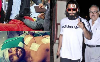 """رنویر سنگھ فلم""""پدماوتی"""" کی شوٹنگ کے دوران زخمی"""