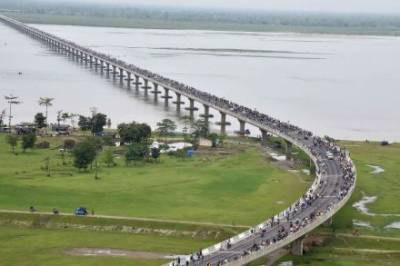بھارت میں سب سے طویل دریائی پل کا افتتاح