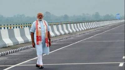 اروناچل پردیش میں پل کی تعمیر، چین کی بھارت کو وارننگ