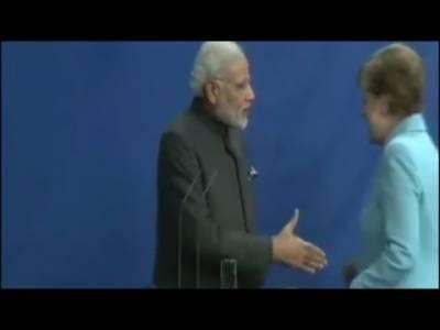 دورہ جرمنی کے دوران بھارتی وزیرا عظم کو شرمندگی کا سامنا