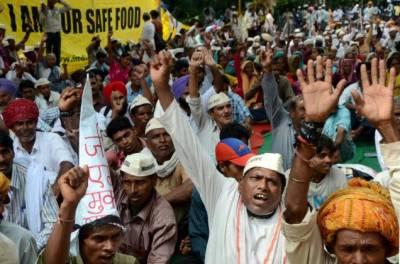 کسانوں کے احتجاجی مظاہرے پر پولیس کی فائرنگ سے تین کسان ہلاک
