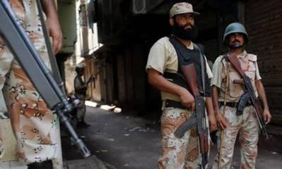 کراچی کے مختلف علاقوں میں رینجرز کی کارروائیاں ،8ملزمان گرفتار