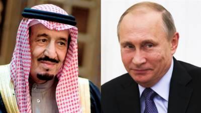 قطر بحران ، سعودی فرماں روا اور روسی صدر کے درمیان رابطہ