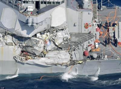 جنگی بحری جہاز کی ٹکر کے بعد لاپتہ ہونے والے7 امریکی بحری اہلکار ہلاک