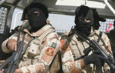 پاکستان رینجرز سندھ کی ناظم آباد کے علاقے میں کارروائی، کنویں میں چھپایا گیا اسلحہ برآمد