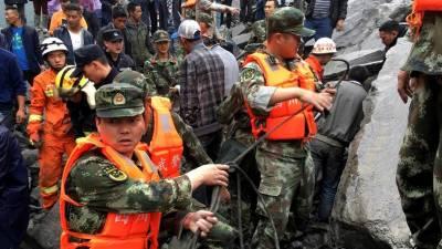 چین: صوبہ سیچوان میں لینڈ سلائیڈ، 100 افراد دب گئے