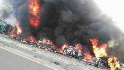 آئل ٹینکر دھماکہ، حادثے کی ذمہ دارموٹروے پولیس ہے، مقامی افراد