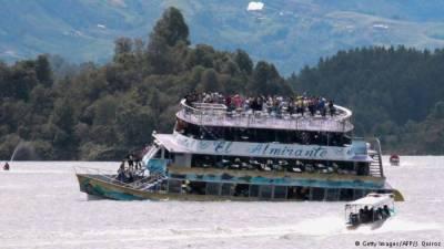 کولمبیا میں سیاحو ں کی کشتی ڈوب گئی،9افراد ہلاک30 لاپتہ