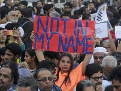 بھارت میں مسلمانوں پر حملے، بھارتی فنکارسڑکوں پرآگئے