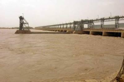 دریائے سندھ میں گڈو اور سکھر بیراج کے مقام پر پانی کی سطح بتدریج بلند ہوناشروع ہو گئی